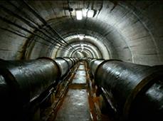 Interior de la canalización, imagen sacada con CCTV