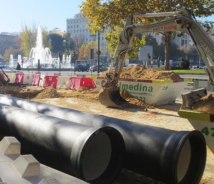 Renovación de la red en la Castellana