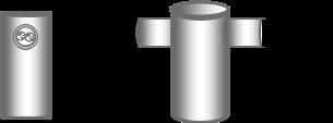 Detalle de los tubos de sujeción