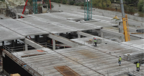 Montaje de forjados prefabricados