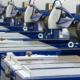 Máquinas de una fábrica trabajando