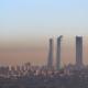 Skyline de Madrid con contaminación