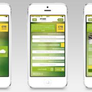 Tres pantallazos en un dispositivo móvil del a nueva App Soluciones de Aislamiento de ISOVER