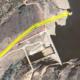 Vista aérea con el trazado de las tuberías a rehabilitar