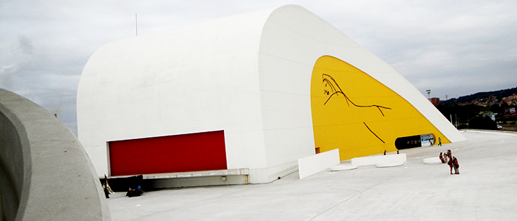 Diseño con hormigón de una fachada de Calatrava