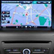 Sistema de navegación a bordo SYNC 2 en un Ford Focus Electric