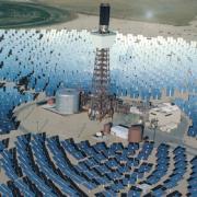 Vista aérea de una central termosolar
