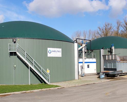 Planta de Biogás instalada por Weltec Biopower