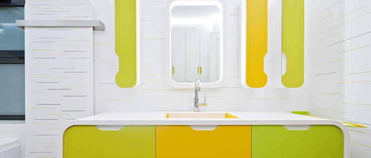 Baño realizado con Hi-Macs®