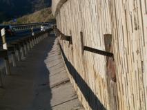 Barras rotas que se ha quedado en la superficie del muro