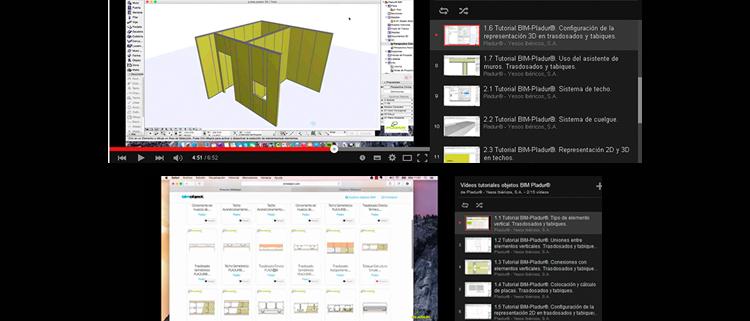 Videos tutoriales de Pladur para el uso de objetos BIM