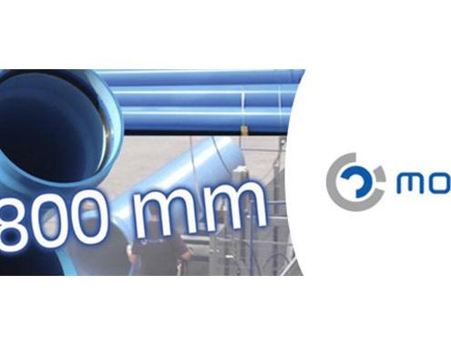 Molecor lanza al mercado la única tubería PVC orientado de 800 mm de diámetro