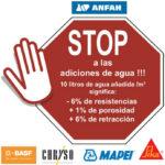 ANFAH. STOP a las adiciones de agua