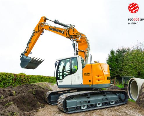 La excavadora sobre cadenas R 926 Compact de Liebherr es galardonada con el Red Dot Award: Product Design 2015