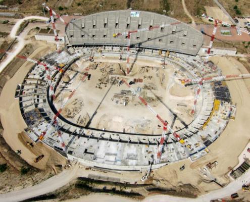Linden Comansa en el nuevo estadio del Atlético de Madrid
