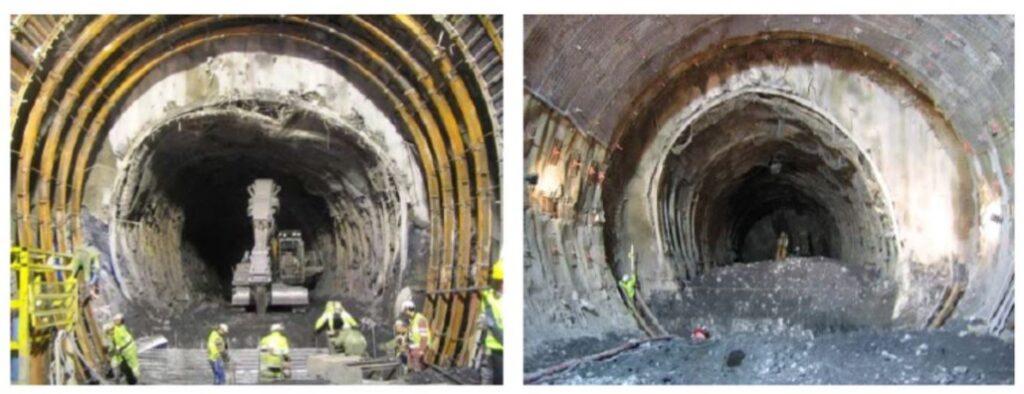 El túnel base de San Gotardo: Sostenimientos y revestimientos (5 de 6)