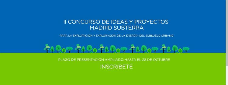 Ampliado el plazo del II Concurso de Ideas y Proyectos de Madrid Subterra