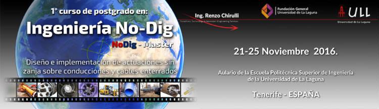 Curso Posgrado en Ingeniería No-Dig: Diseño e implementación de actuaciones sin zanja sobre conducciones y cables enterrados