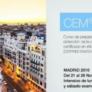Curso de Preparación y Examen para la Obtención de la Certificación de Ingeniero Certificado en Eficiencia y Gestión de la Energía (Certified Energy Manager)