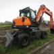 Nueva excavadora de ruedas Doosan de 5 toneladas conforme con la Fase IIIB