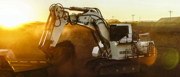 Nueva excavadora de minería R 9200 de Liebherr que se presentó en Bauma 2016