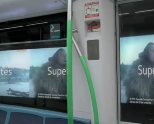 Publicidad en movimiento en los túneles del Metro de Madrid