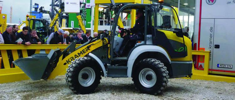 Ganadora del premio a la innovación de Bauma: la cargadora sobre ruedas eléctrica 5055e de Kramer