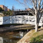 Alcobendas tiene el primer puente peatonal hecho con una impresora 3D