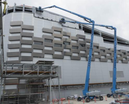 Plataformas Genie en la planta Amager Bakke de Dinamarca