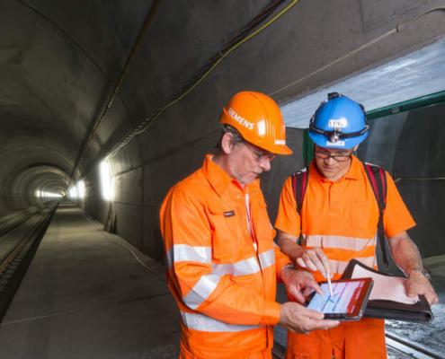 El túnel ferroviario más largo del mundo estará protegido con tecnología Siemens