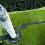 La torre de pruebas de thyssenkrupp en Alemania comienza la instalación de una fachada sin precedentes