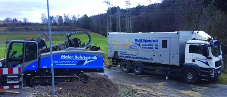 Perforación Horizontal Dirigida para reforzar la línea de suministro eléctrico en la ciudad alemana de Stockach