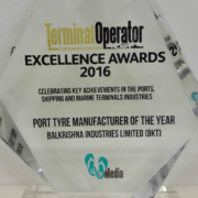 "BKT galardonada con el premio ""Port Tyre Manufacturer of the Year"""
