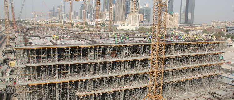 Soluciones flexibles ULMA en el Proyecto Dubai City Walk