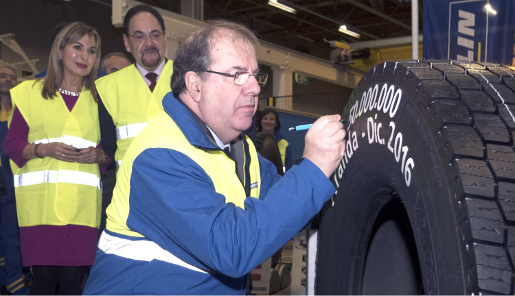 Michelin, 50 millones de neumáticos de camión fabricados en Aranda de Duero