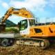 Primicia mundial de la nueva excavadora sobre cadenas R 926 de Liebherr en Baviera