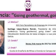 Geotermia de baja entalpía en el XVII Foro Tecnolóxico do Emprego