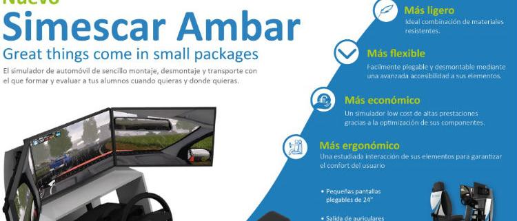 Simumak presenta su nuevo simulador de automóvil: Simescar Ambar