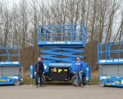 Genie entrega 30 nuevas plataformas de tijera a la sueca Kranpunkten