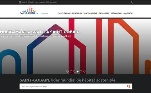Saint-Gobain lanza su nueva web en España