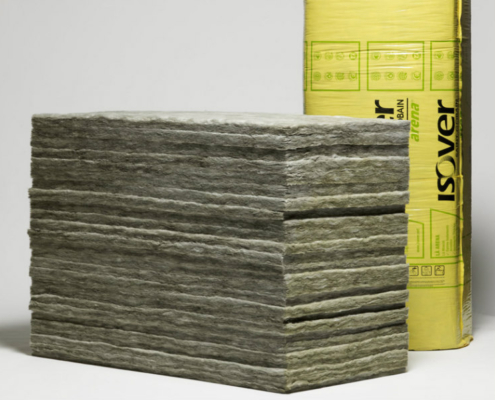 Lana mineral arena de ISOVER para aislar acústicamente