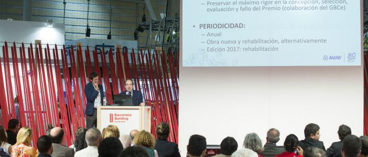 Primera edición del Premio Mapei a la Edificación Sostenible