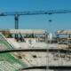 Grúas Linden Comansa en el estadio Benito Villamarín