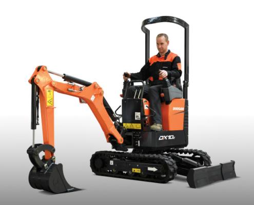 Doosan lanza la nueva mini excavadora DX10Z