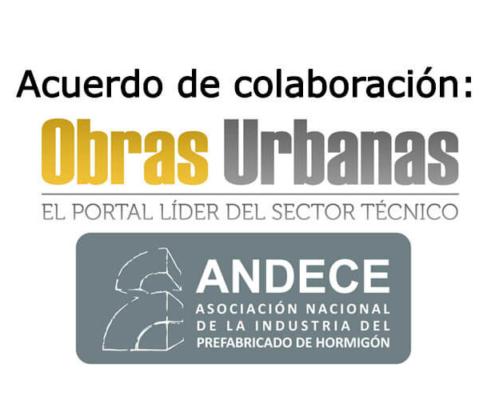 Obras Urbanas y ANDECE firman un acuerdo de colaboración