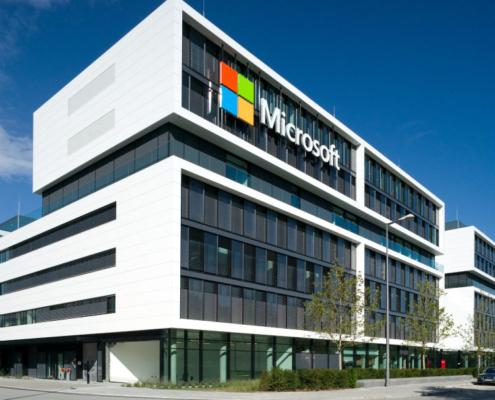 Paneles Corian en la nueva sede de Microsoft Alemania