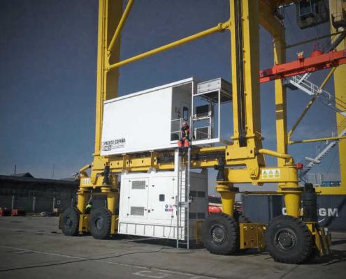 HIMOINSA suministra grupos electrógenos a dos grúas Transtainer RTG