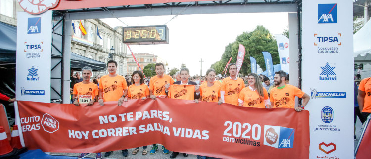 Pontevedra celebra con éxito la 2ª Carrera Ponle Freno