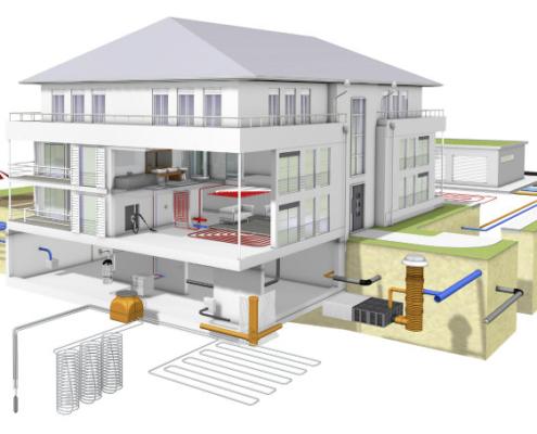 Sistemas geotérmicos REHAU para la obtención de energía del subsuelo