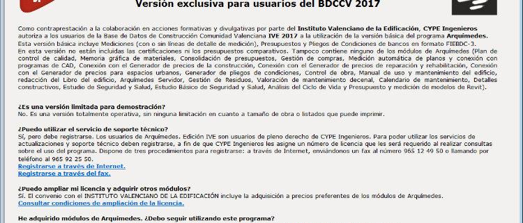 CYPE y el IVE renuevan la versión Arquímedes Edición IVE en la Comunidad Valenciana